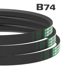 สายพานรถเกี่ยว ร่องเรียบ-B74